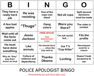 Cop Bingo